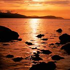Sunset Over Arran's North Shore by micscottjr