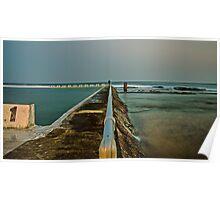 Photographer at Work.  Merewether Ocean Baths Poster