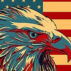 Retro American Patriotic Eagle Flag iPhone 5 Case /  iPad Case / iPhone 4 Case by CroDesign