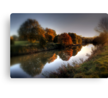 Autumn on the River Medway  Canvas Print
