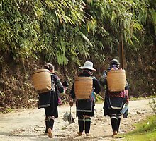 Hmong Women - Sapa Valley - Vietnam by Erin McMahon
