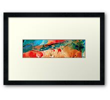 Life Eternal Red And Green Abstract Framed Print
