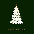 A Christmas Wish iphone case - Green by Vanessa Barklay