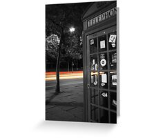 London Telephone Box Greeting Card