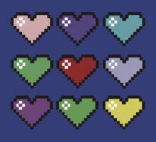 Retro Hearts by IamJane--