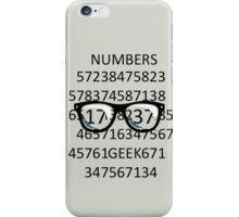 NUMBERS GEEK iPhone Case/Skin