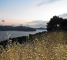 Greek Island Sunset view by SlavicaB