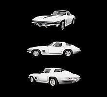 White 1967 Corvette Stingray by bradyarnold