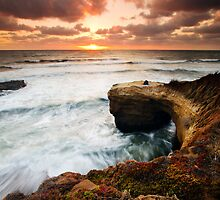 Picnic Romance at Sunset Cliffs San Diego by Gareth Spiller