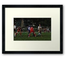 090212 116 1 stained glass field hockey noise Framed Print
