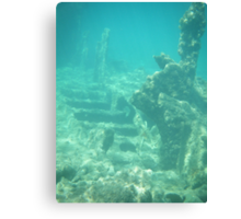 Underwater staircase Canvas Print