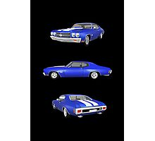 Blue 1970 Chevelle SS Photographic Print