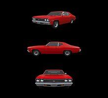 Red 1969 Chevelle SS by bradyarnold