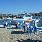 Lipsi Greek Island Sea Side Restaurant by SlavicaB