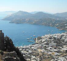 Patmos Greek Island harbor view #photography by SlavicaB