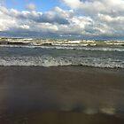 lake michigan waves by Eve Landsman