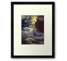 God Said... Framed Print