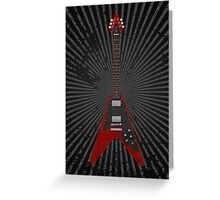 Flying V Guitar Greeting Card