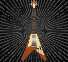 Flying V Guitar by bradyarnold
