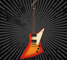 Sunburst Electric Guitar by bradyarnold