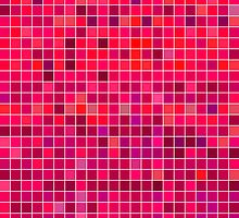 Red Mosaic [iPhone / iPad / iPod Case] by Damienne Bingham