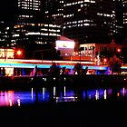 Melbourne at night by lauren hart
