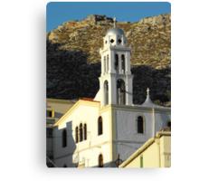 Greek Island church 3 #photography Canvas Print