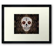 Vintage Sugar Skull Framed Print