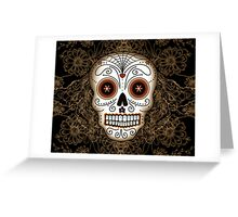 Vintage Sugar Skull Greeting Card