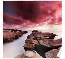 Soldiers Beach Sunrise Poster