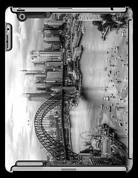 Monochrome Dreams (IPAD CASE)- Sydney Australia - The HDR Experience by Philip Johnson