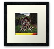 Holga gnome home Framed Print