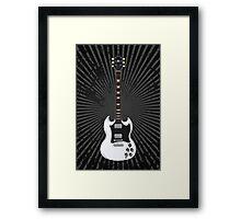 White Electric Guitar Framed Print