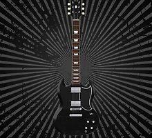 Black Electric Guitar by bradyarnold