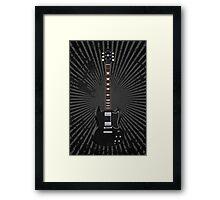 Black Electric Guitar Framed Print