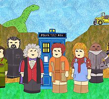 3rd Doctor and his companions by HappyDoctors