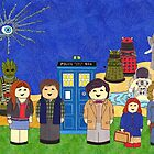 11th Doctor and his companions by HappyDoctors