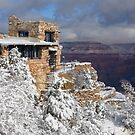 Snowy Lookout Studio at the Grand Canyon by LizzieMorrison