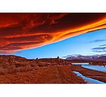 Mono Lake on fire Photographic Print