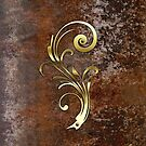Gold detail on a rusty background by Confundo