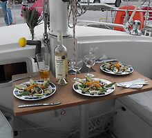 Greek feast on Amel Sailboat by SlavicaB