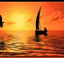 Sailing on the Sea by Richard  Gerhard