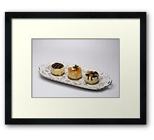 Single Serving Cheese Cakes Framed Print