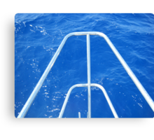 Sailboat bow view of Water Canvas Print