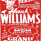 Hank Williams Show Print  by BUB THE ZOMBIE