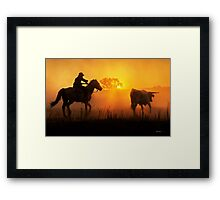Sunset Muster Framed Print