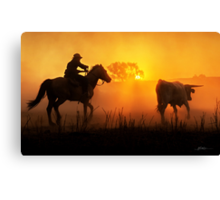 Sunset Muster Canvas Print