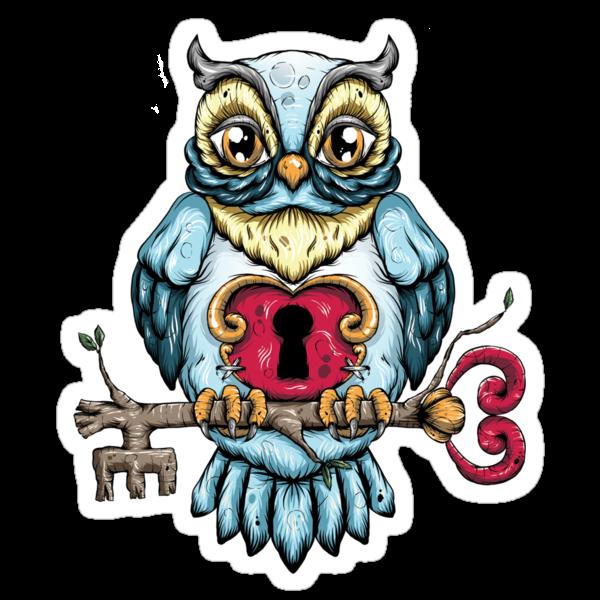 Owl With Key by Ella Mobbs