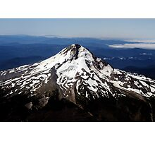 Aerial View of Mt. Hood Photographic Print