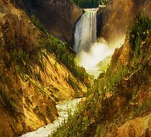 Upper Yellowstone Falls by Bendinglife